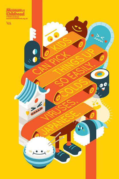 graphic design, illustration, yellow