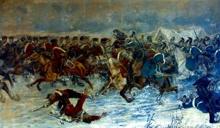 Charge of the Danish Jydske Dragoon Regiment against Prussian hussars at the Battle of Vorbasse -by Karl Hansen-Reistrup