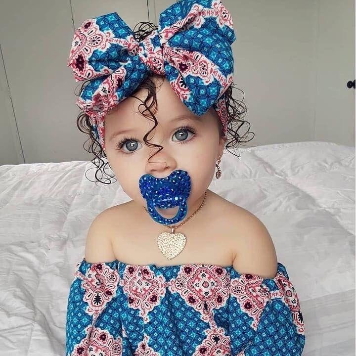 Baby Toddler Little Girl Blue Eyes Brown Hair Cute Pretty Kid