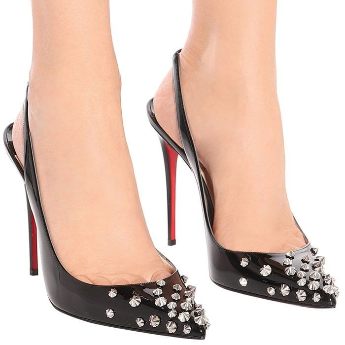 3e298df04 Add Instant Drama To Your Look With Spiked Slingback Pumps by Christian  Louboutin