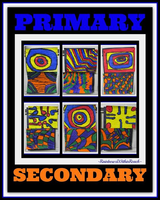 photo of: Primary + Secondary Colors in First Grade at RainbowsWithinReach