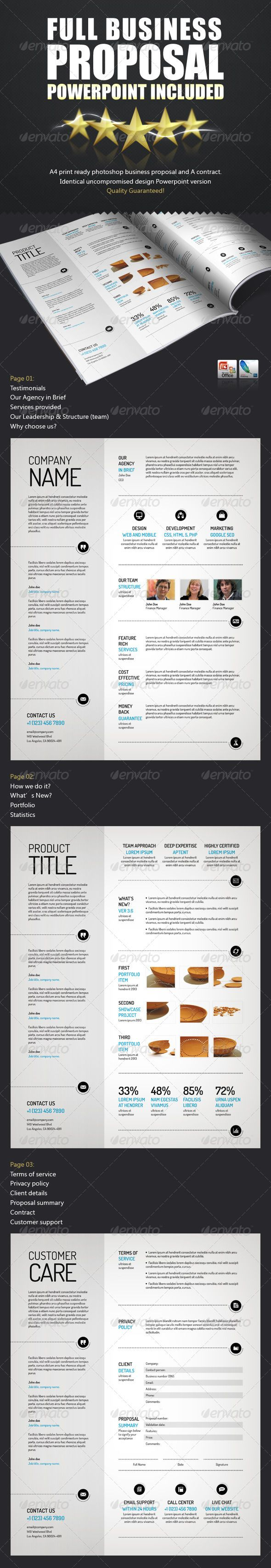 Spacious Business Proposal Template - PPTX + PSD — Photoshop PSD #proposal…