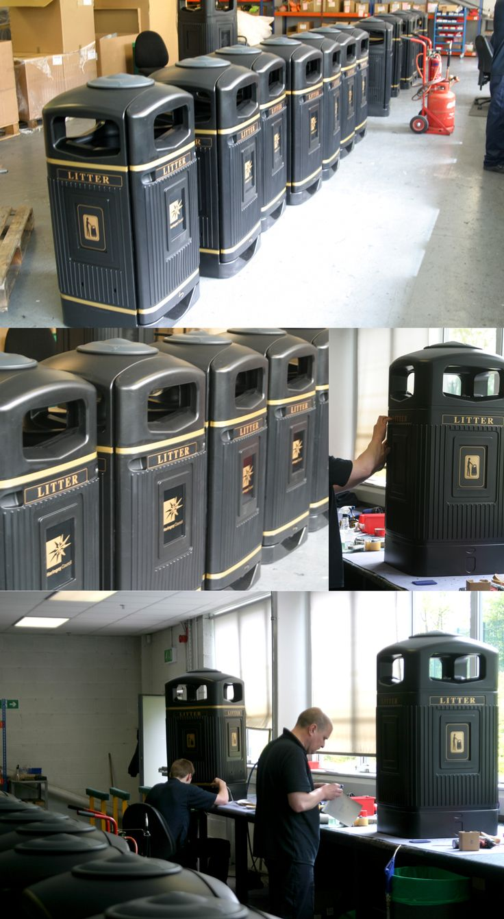 Glasdon Jubilee™ litter bins personalised for Haringey Council. Personalisation can be anything from your existing logo to having a message designed by our in house graphics team.
