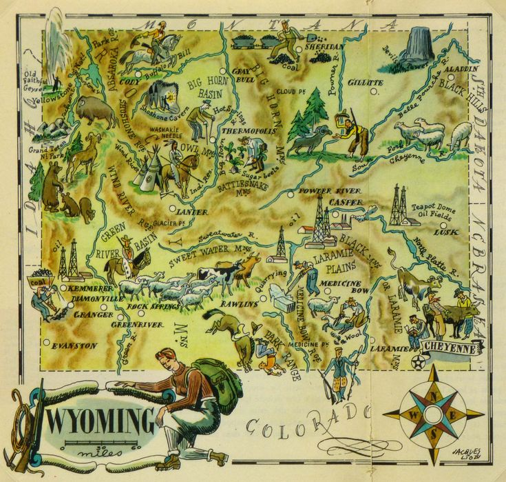 Kentucky Earthquake Map%0A Old Map of Wyoming