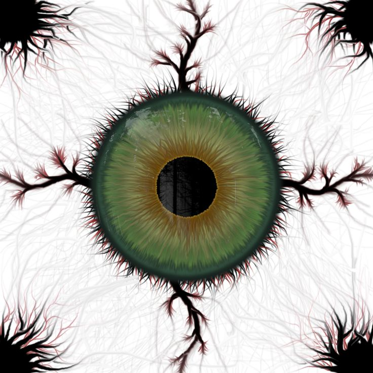 The first eye art I ever did, and the beginnings of my digital art career.