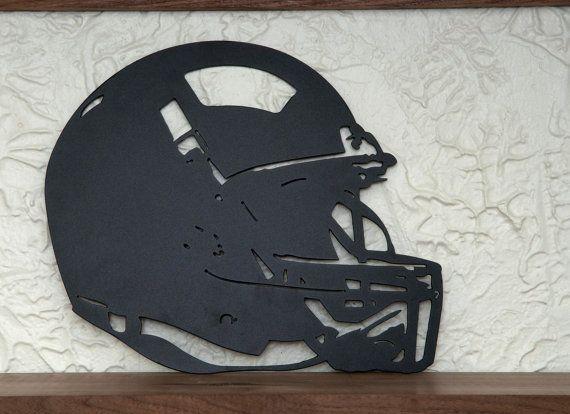 Casque de football 15x12.5  manteau de poudre de métal par haagmade