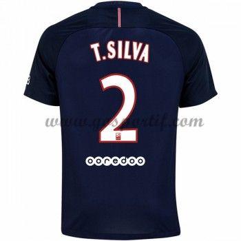 maillot de foot Ligue 1 Paris Saint Germain Psg 2016-17 T. Silva 2 maillot domicile