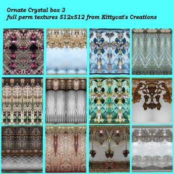 Ornate Crystal 3 box