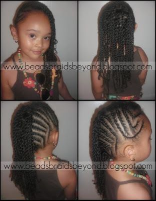 natural black twisted hairstyles girl kids | ... and Beyond: Top 10 Most Popular Natural Hair Styles for Little Girls