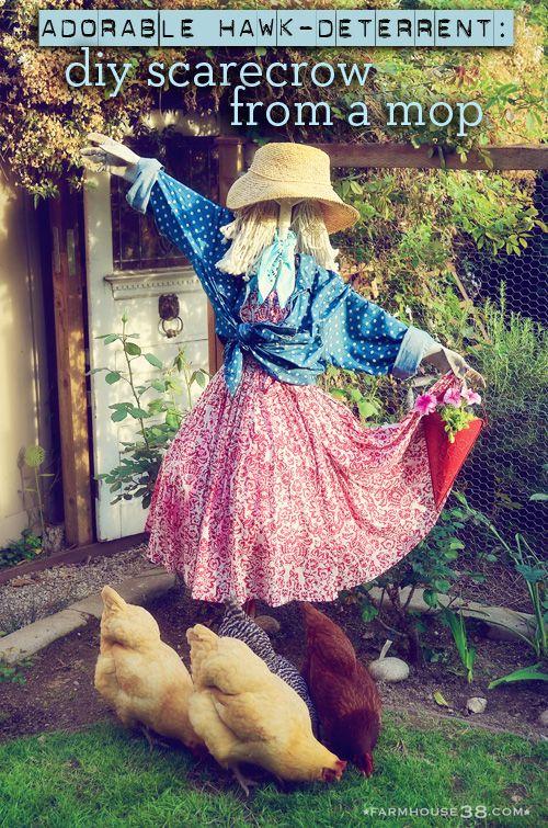 Scarecrow Hawk Deterrent from Farmhouse38