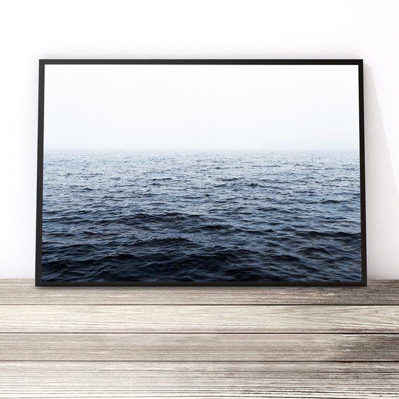 Ocean Print Horizontal Wall Art Ocean Art Large Wall Art Ocean Waves Print Landscape Print Blue Ocean Photography Print Beach Print Horizontal Wall Art Ocean Print Ocean Photography