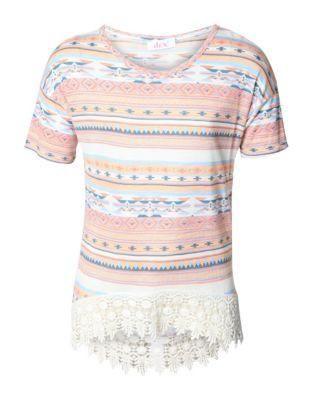 BNWT Dex Aztec Cotton-Blend Top Size 6 girl