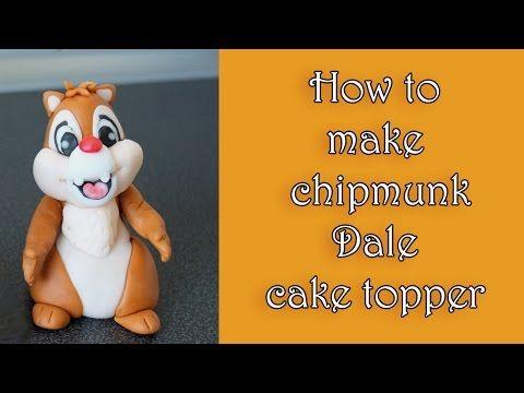 How to make fondant chipmunk Dale topper tutorial / Jak zrobić wiewiórkę Dale z masy cukrowej - YouTube