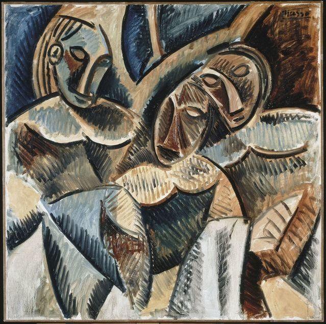 Pablo Picasso | Trois figures sous un arbre (Three figures under a tree) (Winter 1907-1908) | Artsy