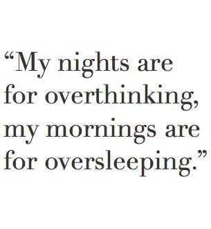 Sounds like my life!