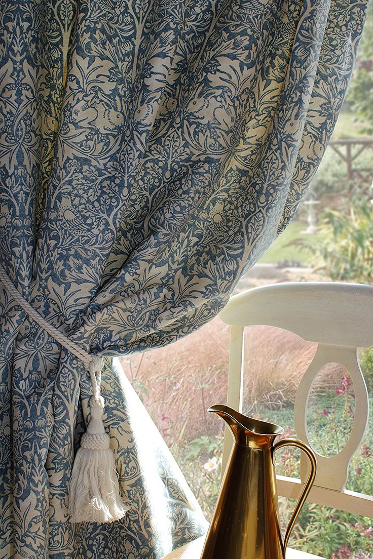 "William Morris & Co Brer Rabbit Bespoke Curtains Arts and Crafts 90"" drop: Amazon.co.uk: Kitchen & Home"