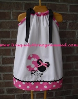 embroidered pillow case dress. This would be so cute for the Disney world trip!