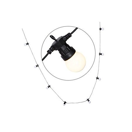 Blooma Chalcon Mains Powered White 10 LED String Lights | Departments | DIY at B&Q