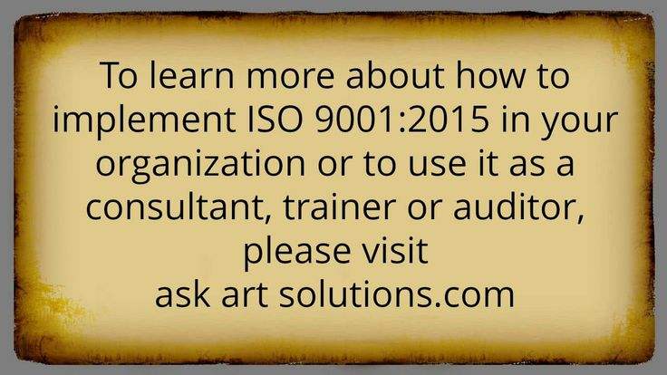 ISO 9001:2015 Consulting - Frequently Asked Questions Part 3