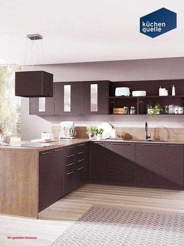 Wohnen und kochen wird bei der norina 3317 schwarz direkt verbunden denn die küchenmöbel fügen