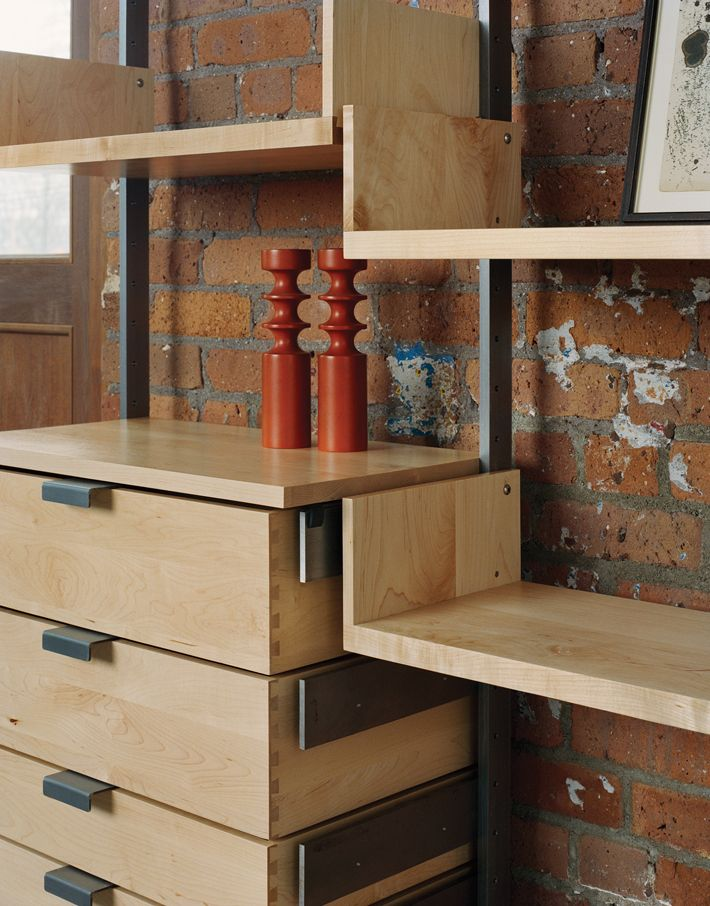 Modular Furniture Part - 36: As4 Modular Furniture System In Solid Maple And Cold-rolled Steel