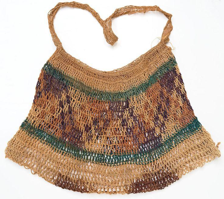 Large P.N.G .Vintage BILUM String Bag - Papua New Guinea Weaving #Wovenbasketbag