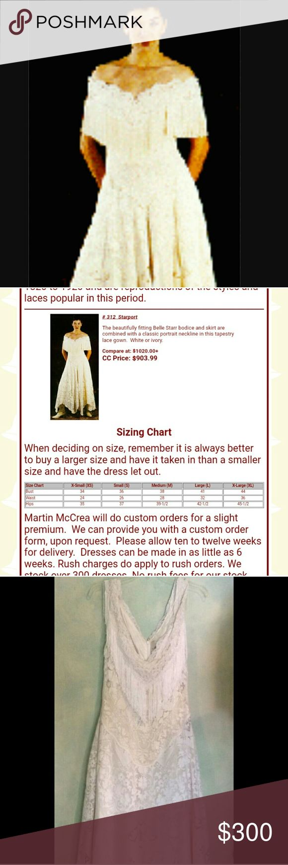 MARTIN MCCREA WESTERN WEDDING GOWN SIZE 2X WORN ONCE FOR WEDDING HANGING IN MY CLOSET TO LONG THIS DRESS IS SLIGHTLY HEAVY FOR ARIZONA BUT GOOD FOR WINTER WEDDING THIS CAN ALSO BE WORN FOR OTHER OCCASIONS AS WELL ....IF YOU LIKE IT MAKE AN OFFER Martin McCrea Dresses Wedding