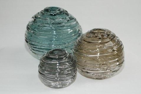 Strata, hand blown glass www.locoglass.co.uk
