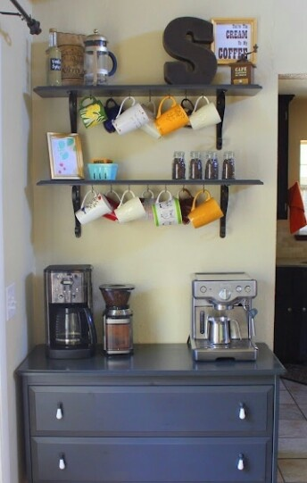 Coffee bar - need something similar in my eat-in kitchen