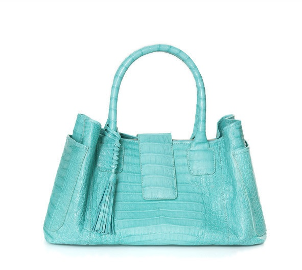 Power #crocodile #handbag.  Handmade in Colombia. $2300