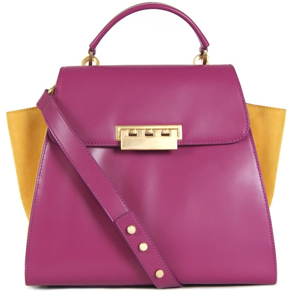 Z Spoke Zac Posen Eartha Top Handle Purse ($495) ❤ liked on Polyvore