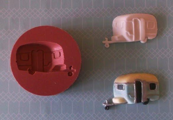 Retro kiwi caravan silicone mould