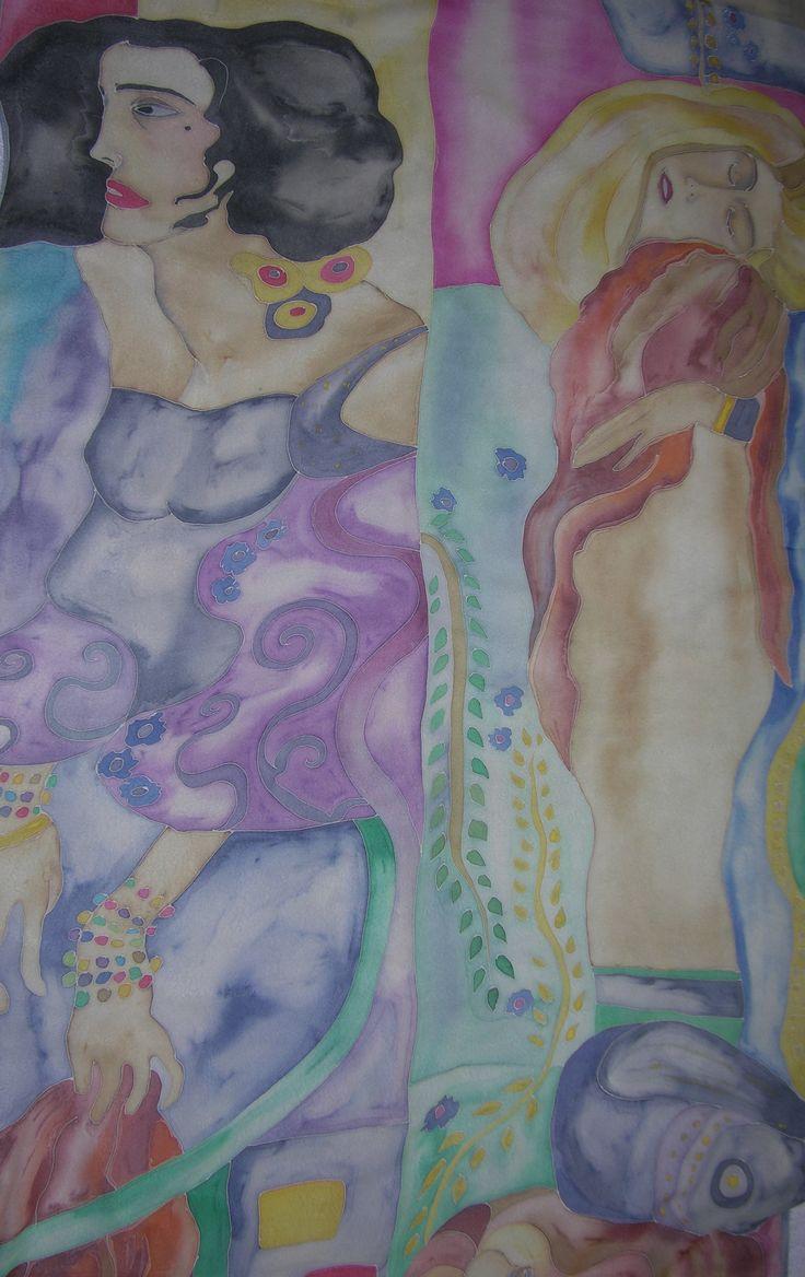 silk hand painted