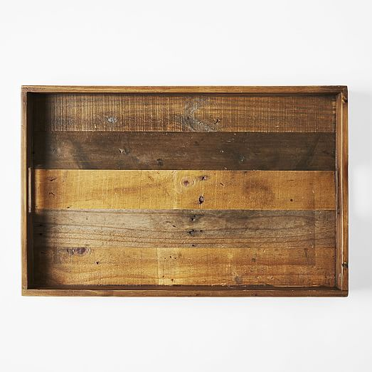 Reclaimed Wood Trays | west elm the large one