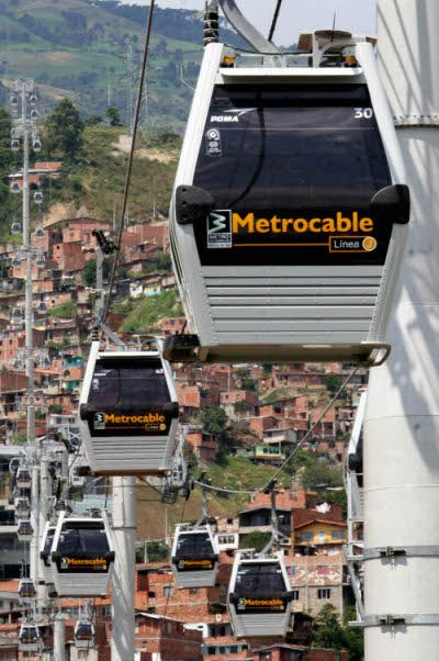 commuting in Medellin, Colombia. 2013 most innovative city of the world!