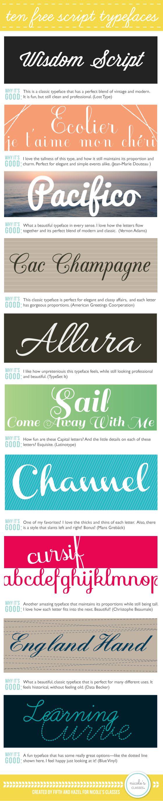 10 #Free #Script #Typefaces #font #blogging #desgn
