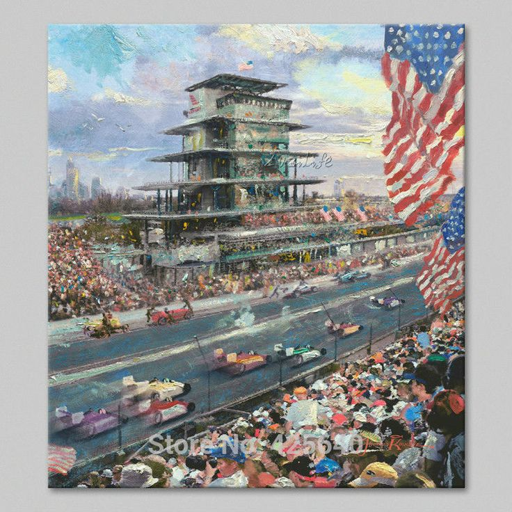 Find More Painting & Calligraphy Information about Framed Thomas Kinkade Oil Paintings Indianapolis Motor Speedwar Art Decor Painting Print Giclee Art Print On Canvas,High Quality canvas painting landscape,China canvas acrylic painting Suppliers, Cheap canvas oil painting from Eazilife Oil Painting on Aliexpress.com