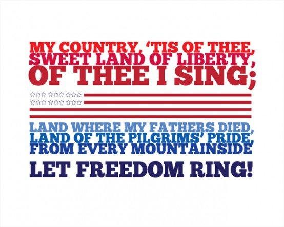 America – My country, 'tis of Thee Lyrics
