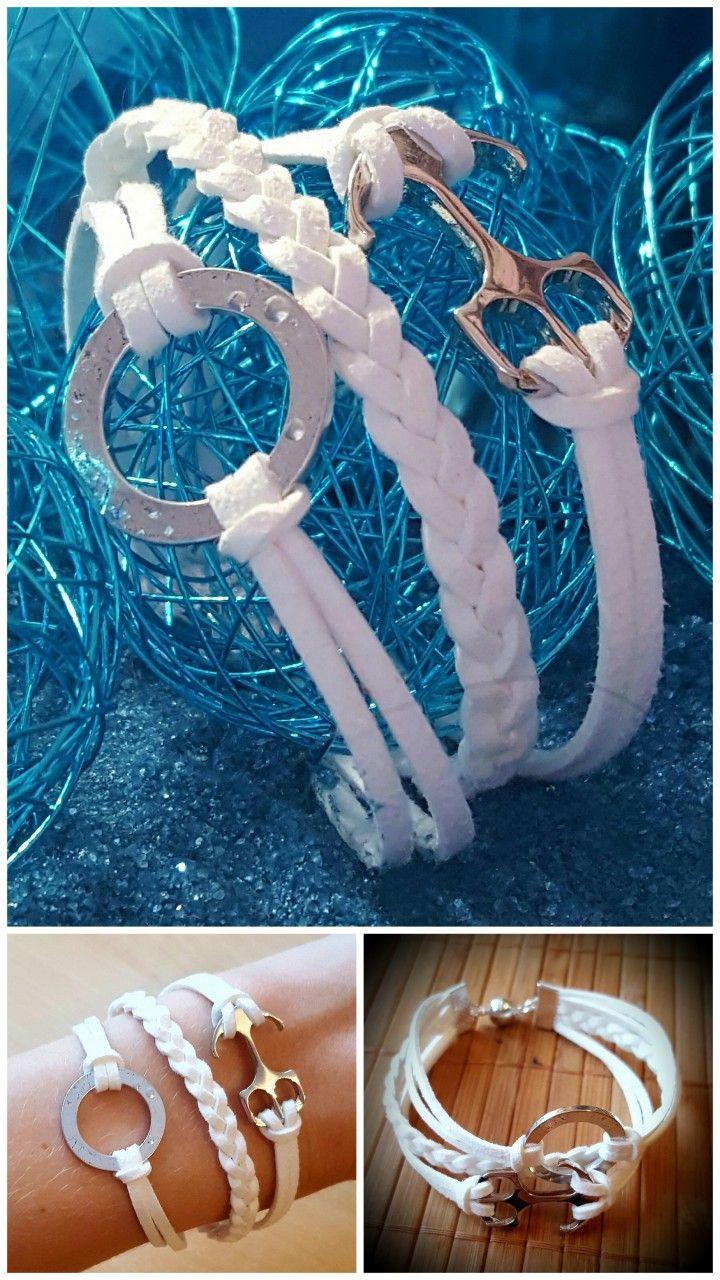 modernes 3 str ngiges armband selber designen anker. Black Bedroom Furniture Sets. Home Design Ideas