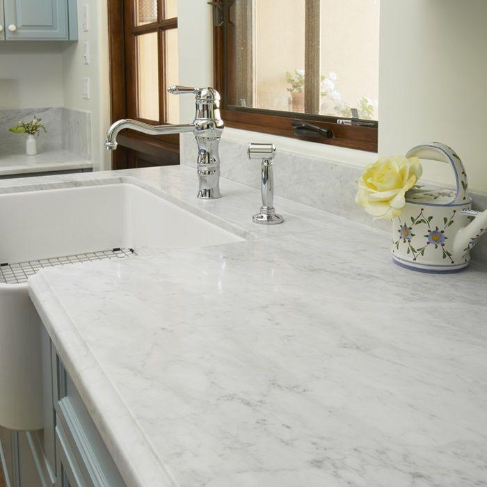 Bianco Carrara Natural Stone Marble Arizona Tile White