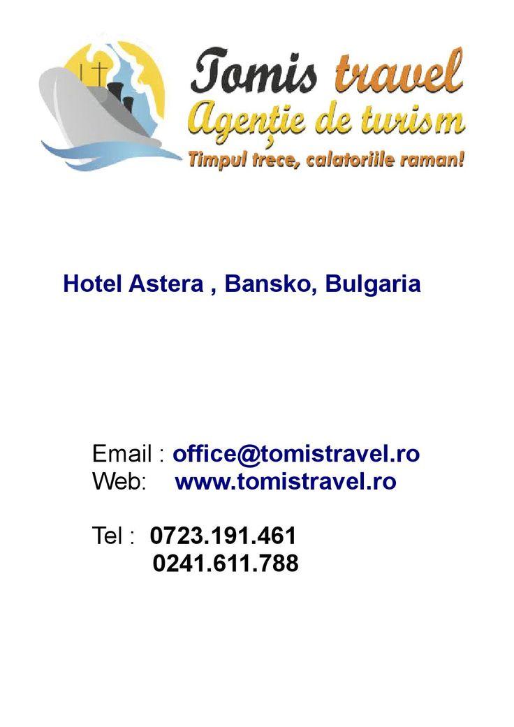 Hotel Astera Bansko bulgaria  Hotel Astera Bansko 4* din Bansko este situat la poalele muntilor Pirin, la numai 200 m de Gondola.