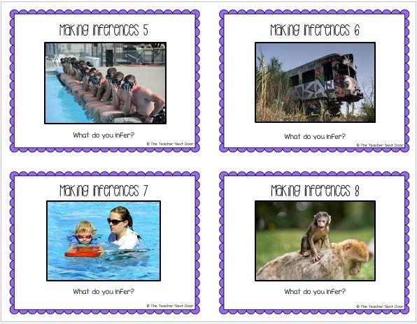 Task Cards for Inferences Informational Text 2nd – 5th Grade – The Teacher Next Door
