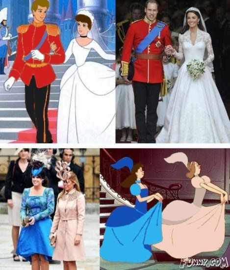Funny Pictures : Prince William & Kate Middleton's Wedding Pictures: Giggle, Funny Stuff, Royal Weddings, Funnies, Things, Disney, Fairytale