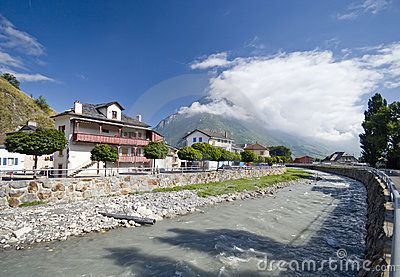 The Rhone River In Martigny - Download From Over 25 Million High Quality Stock Photos, Images, Vectors. Sign up for FREE today. Image: 6030374