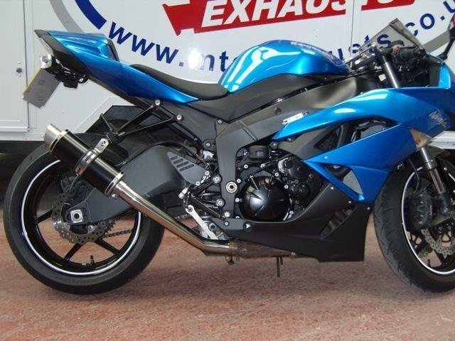 Kawasaki ZX6R ZX 6 R 2009- 2016 Black GP round Race MTC Exhaust #MaxTorqueCans