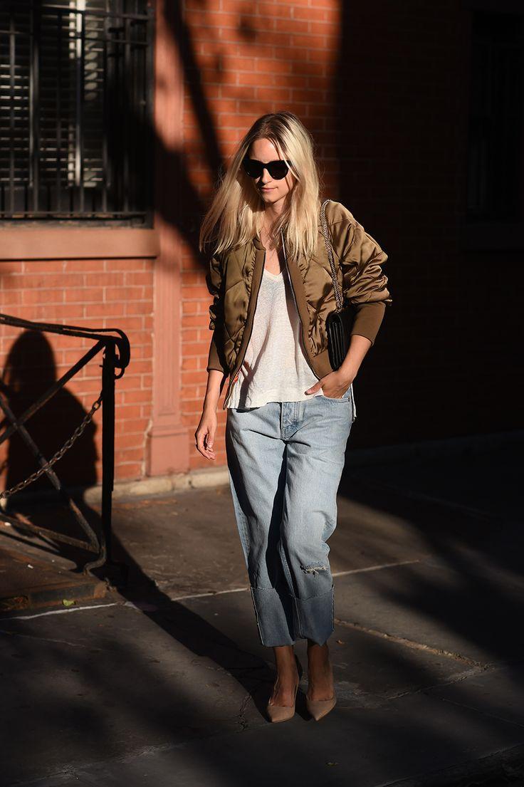 Zara bomber jacket and relaxed denim  THEFASHIONGUITAR