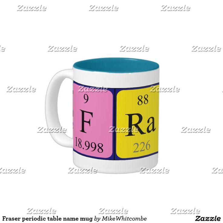 Fraser periodic table name mug