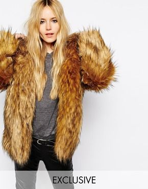 Story Of Lola Oversized Hooded Faux Fur Coat