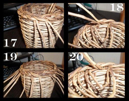 Корзинка плетеная (для конфетного букета) + МК загибки (коса простая). | Страна Мастеров