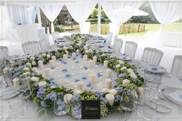FERIATUS - Baby Boy - White - Blue - Table - Candle